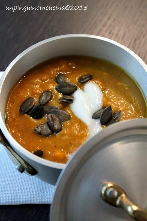 Crema di carote e mele al curry