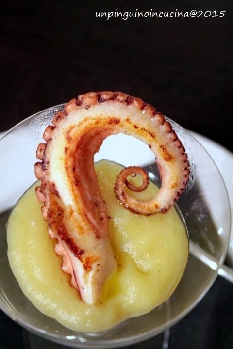 Polpo arrosto con crema di patate tartufata
