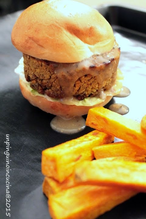 Burger vegani al pepe verde
