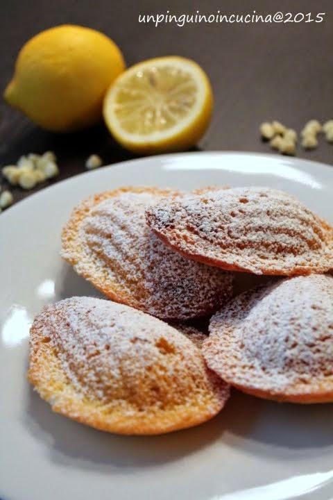 Madeleine al cioccolato bianco e limone