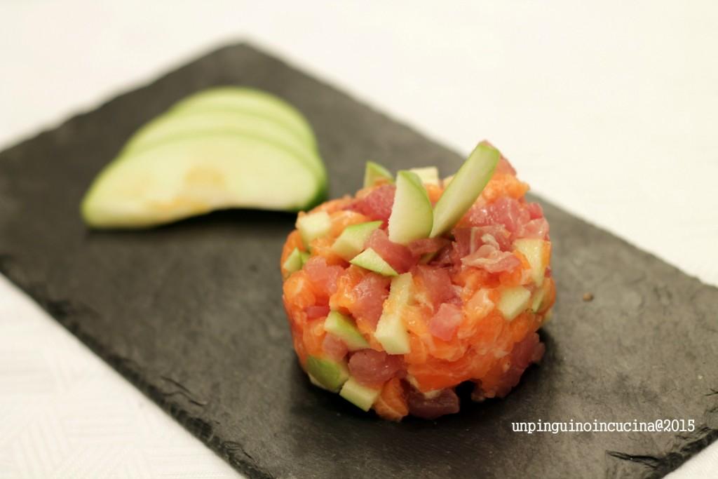 tartare-di-tonno-e-salmone-alla-mela-verde