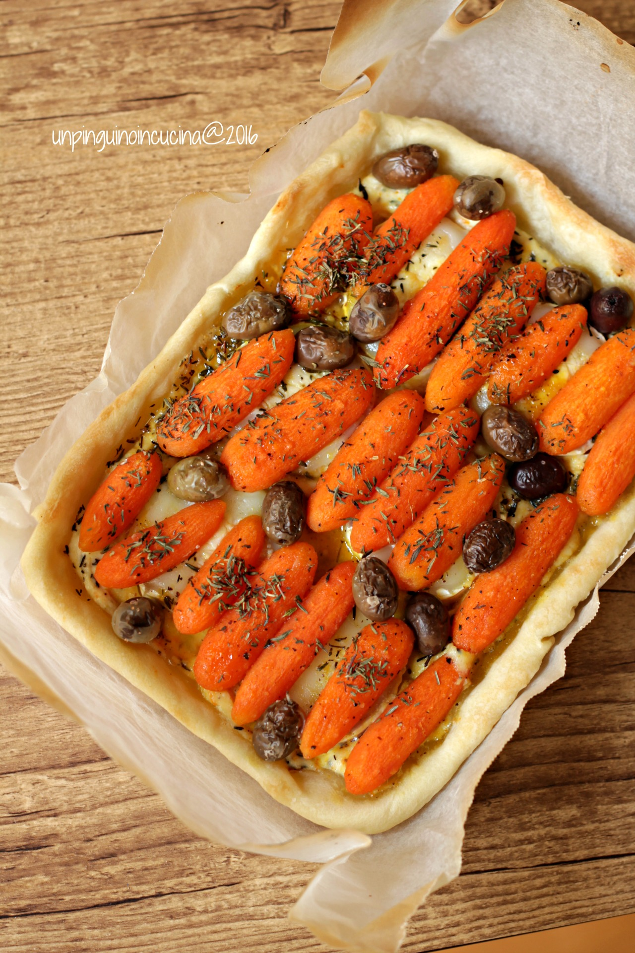 torta-salata-carote-all'arancia-e-chèvre