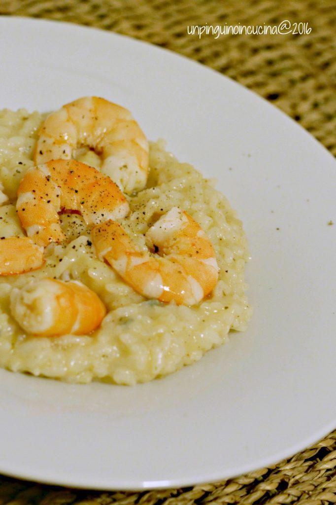 risotto-gorgonzola-pere-e-gamberi
