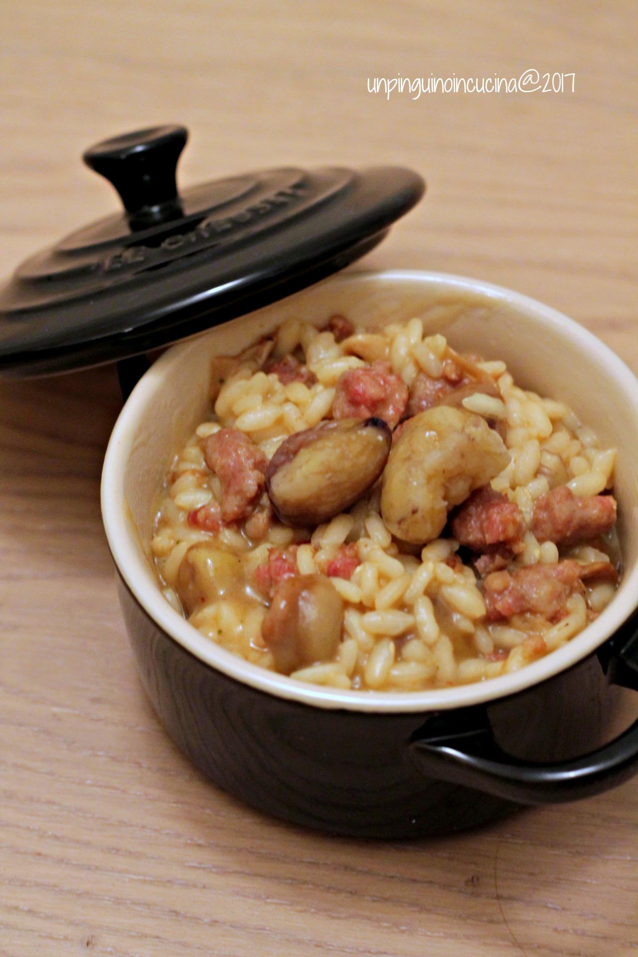 risotto-salsiccia-castagne-e-funghi-porcini