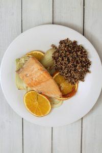 salmone-con-finocchi-arance-e-quinoa