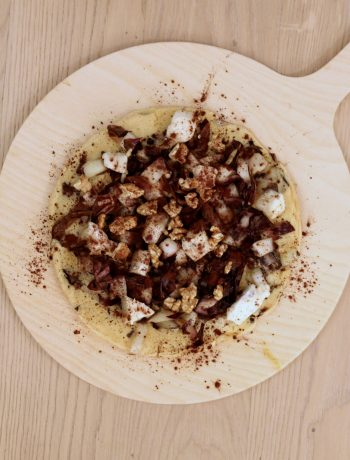 farinata-radicchio-gorgonzola-cacao