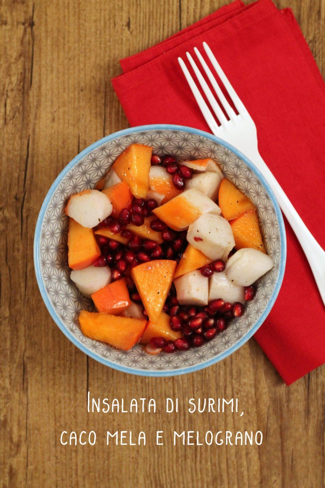 insalata-surimi-caco-mela-e-melograno