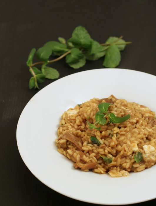 risotto-porcini-brie-e-menta