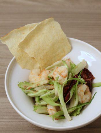 insalata-gamberi-puntarelle-e-pomodori-secchi
