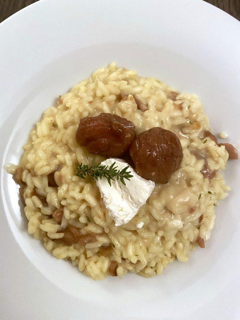 risotto-alle-castagne-con-caprino-e-timo